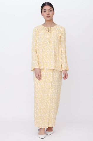 Maisie Marble Button Kurung Green
