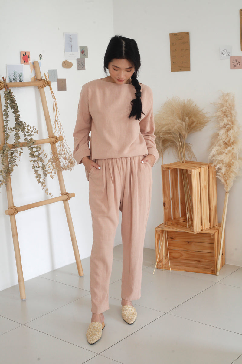 Aria Cotton Top Nude Pink