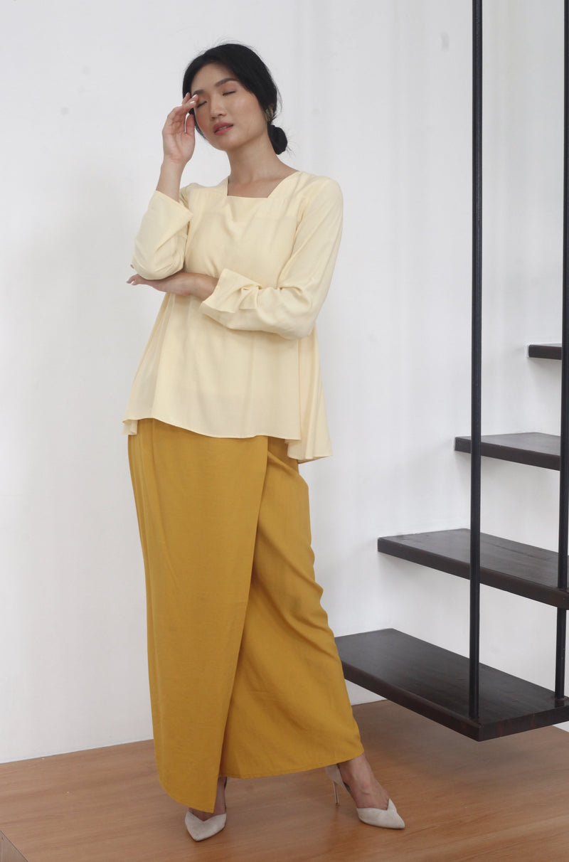 Lila Two Tone Kurung Yellow