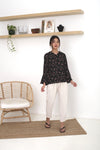 Aria Cotton Top Black
