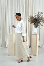 Andrea Satin Skirt Beige