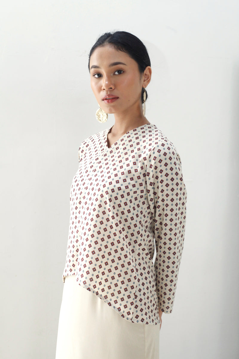 Meera Printed Top White