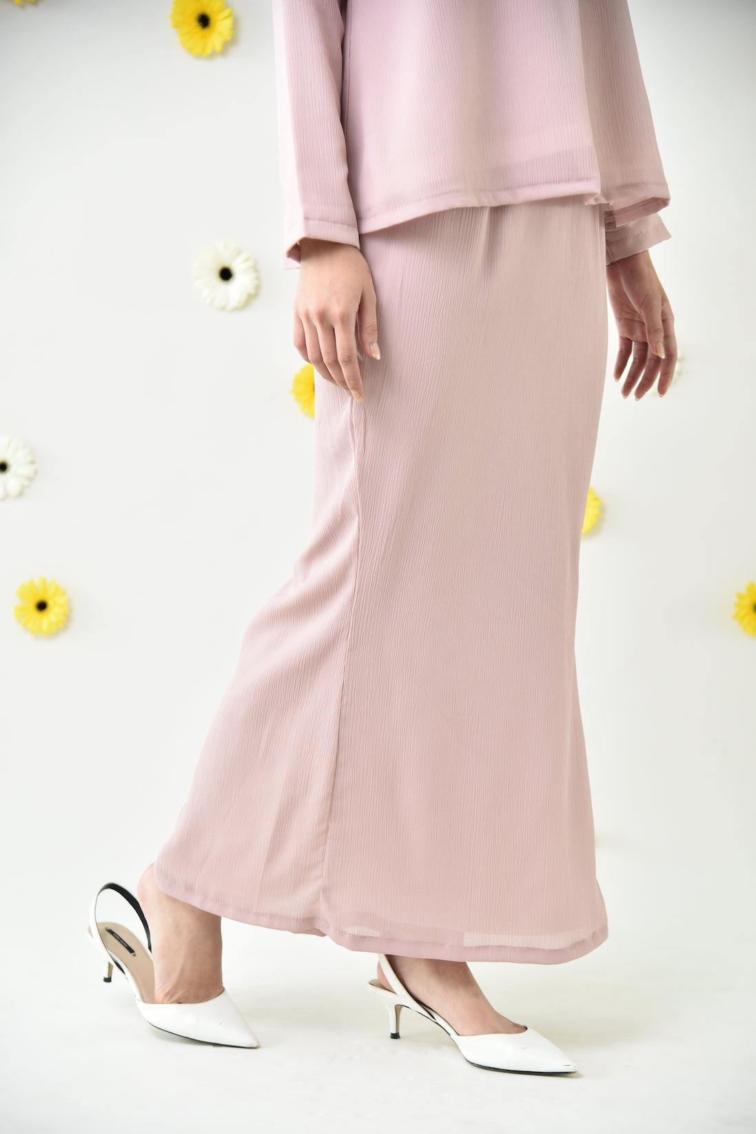 Aya Kurung Set Dusty Pink