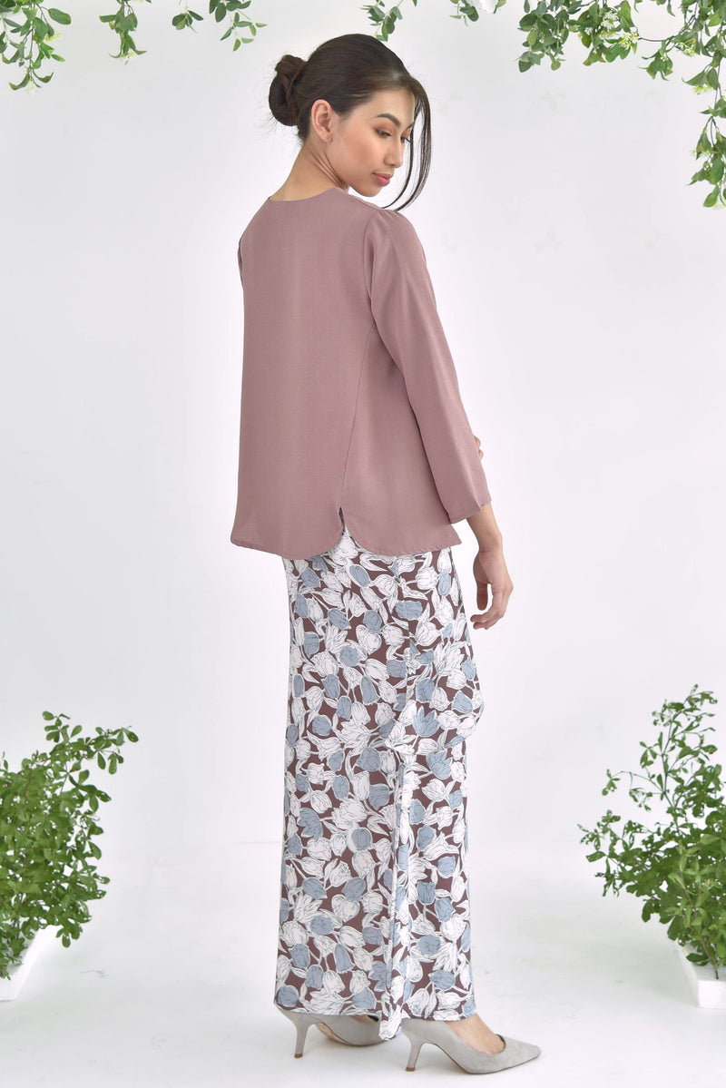 Sofia Layer Skirt Floral Brown