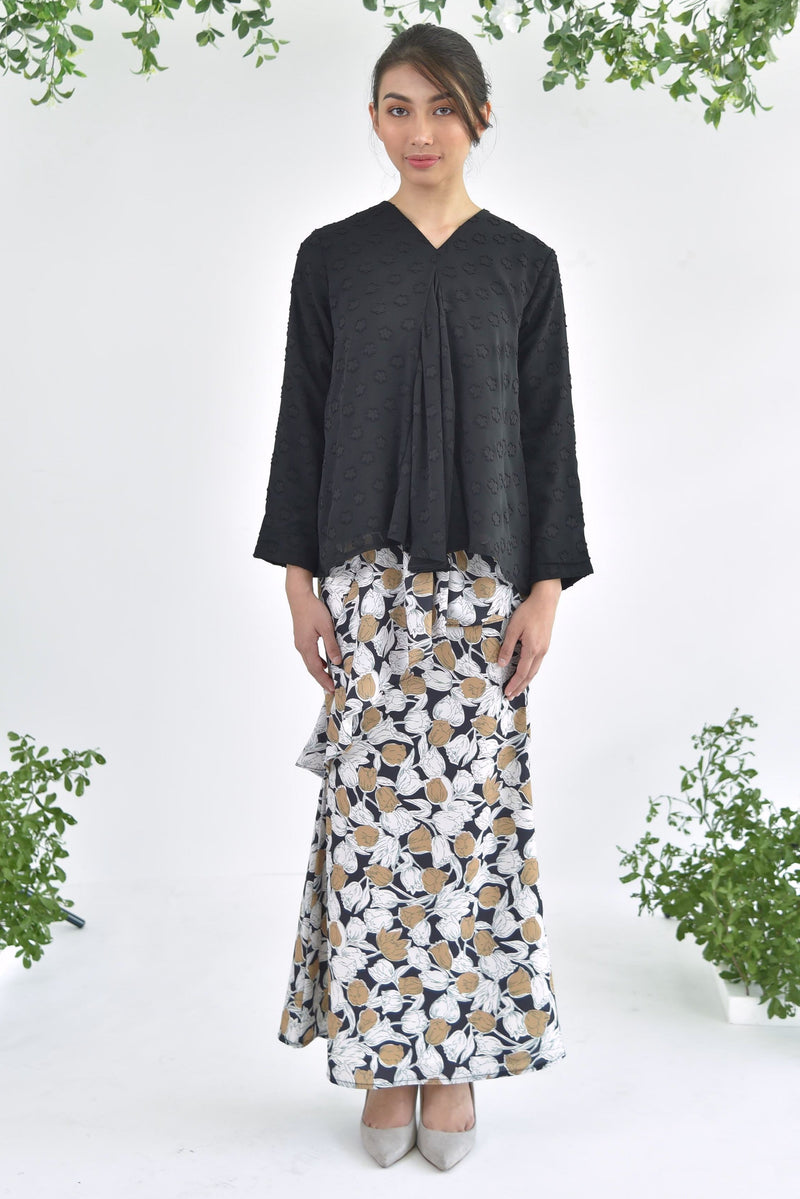 Sofia Layer Skirt Floral Black
