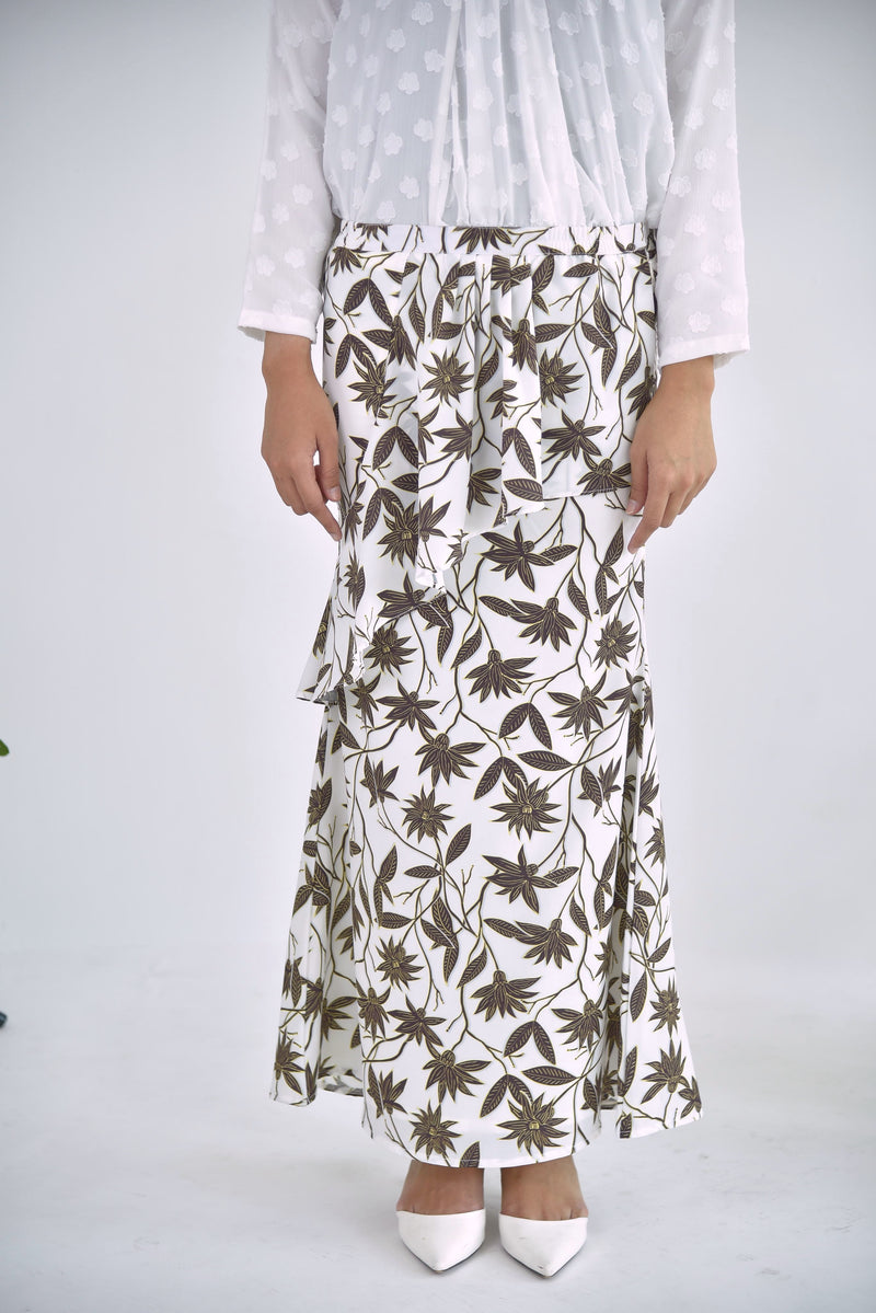 Sofia Layer Skirt Floral White