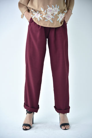 Medium Pencil Pants Maroon