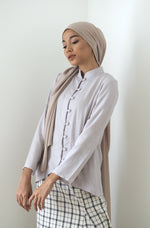 Rei Button Top Grey