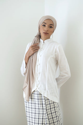 Rei Button Top Taupe