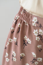 Nia Floral Skirt Brown