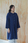 Leah Button Oversized Tunic Blue