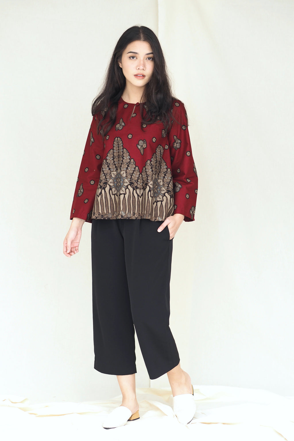 Suri Batik Top Fern Red