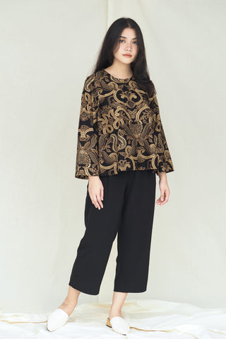 Suri Batik Top Fern Black