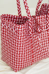 Anyaman Plastic Tote Extra Small Red