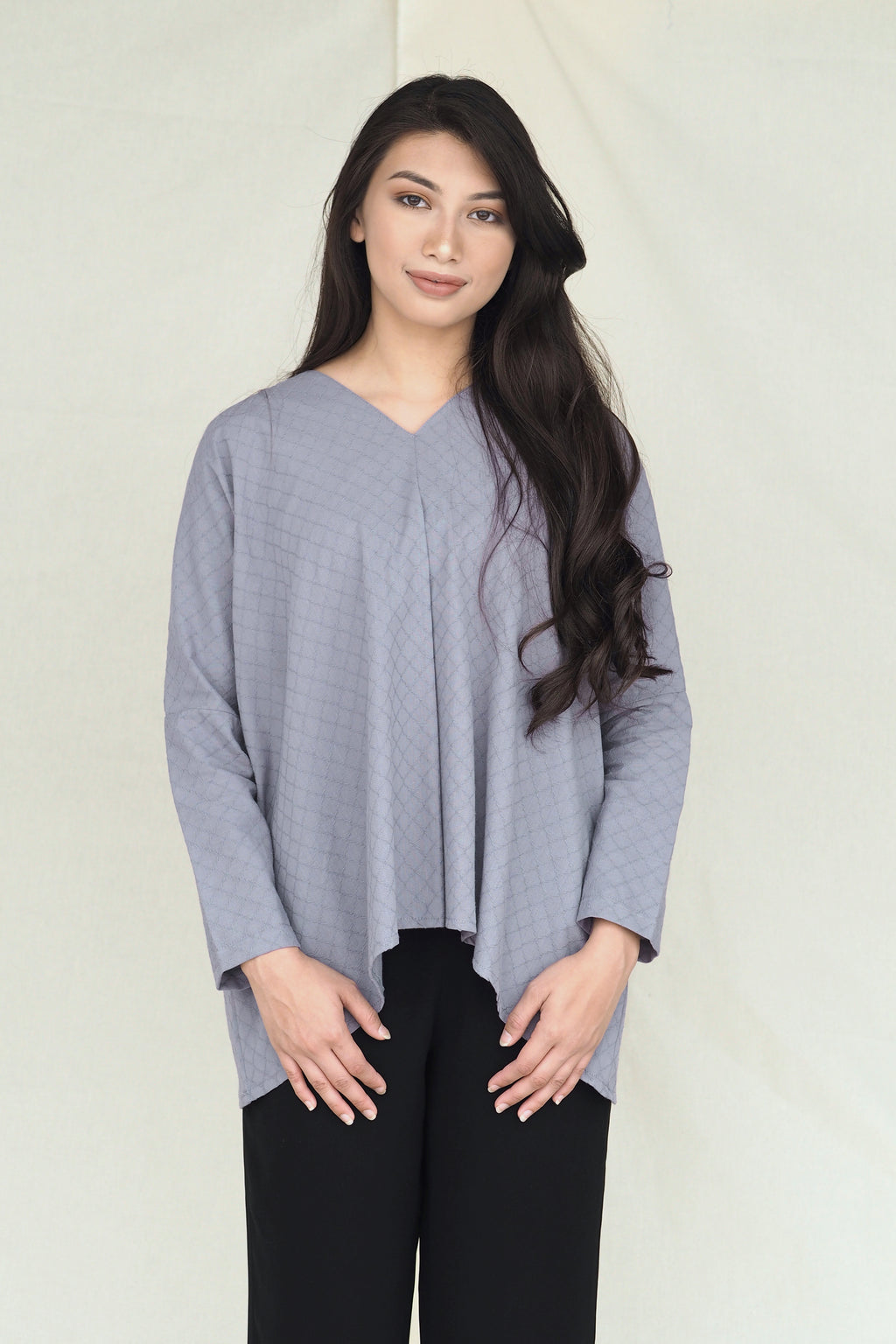 Mawar Plain Top Grey