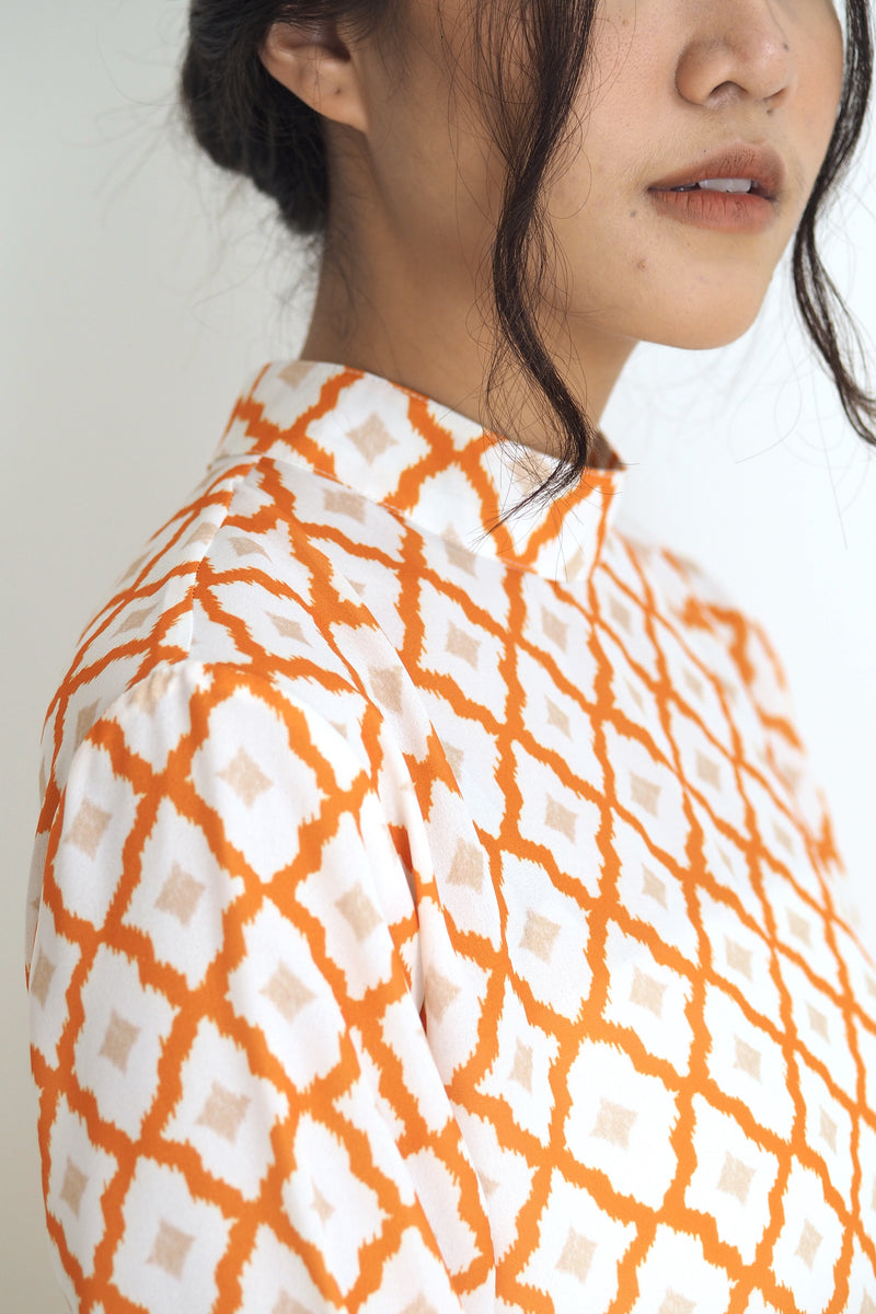 Tessa Maxi Top Ikat Orange