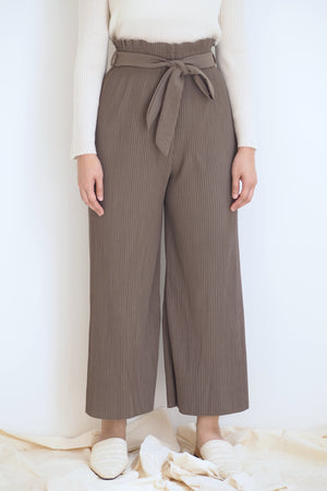 Pleated Pants Ash Brown