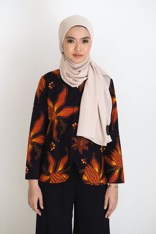 Mia Batik Top Klasik Red