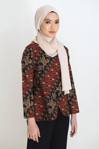 Lucy Floral Top Brown