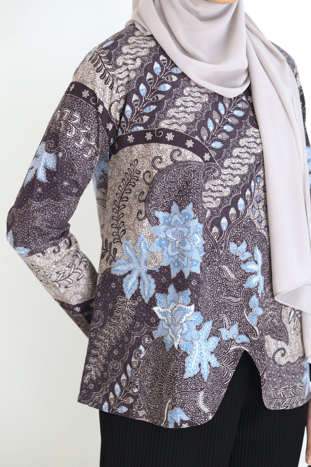 Mia Batik Top Klasik Blue
