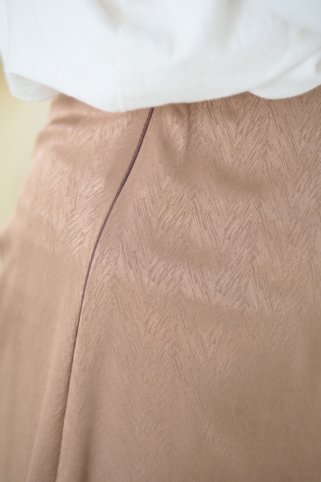 Andrea Satin Skirt Brown