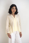 Dian Plain Kebaya Top Yellow