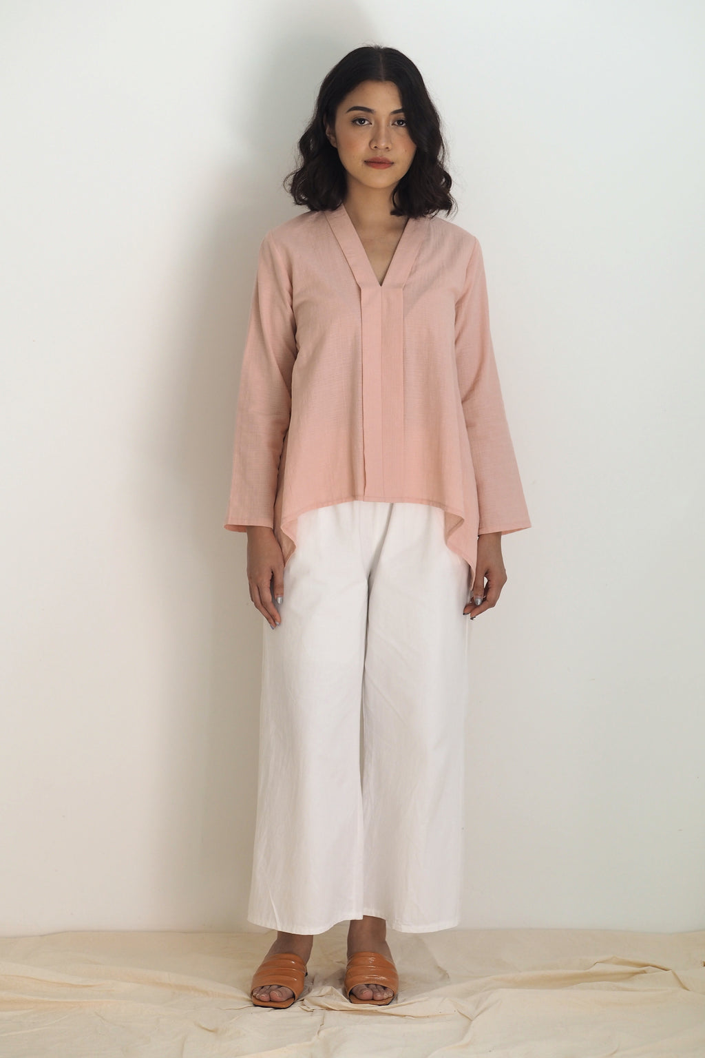 Dian Plain Kebaya Top Pink