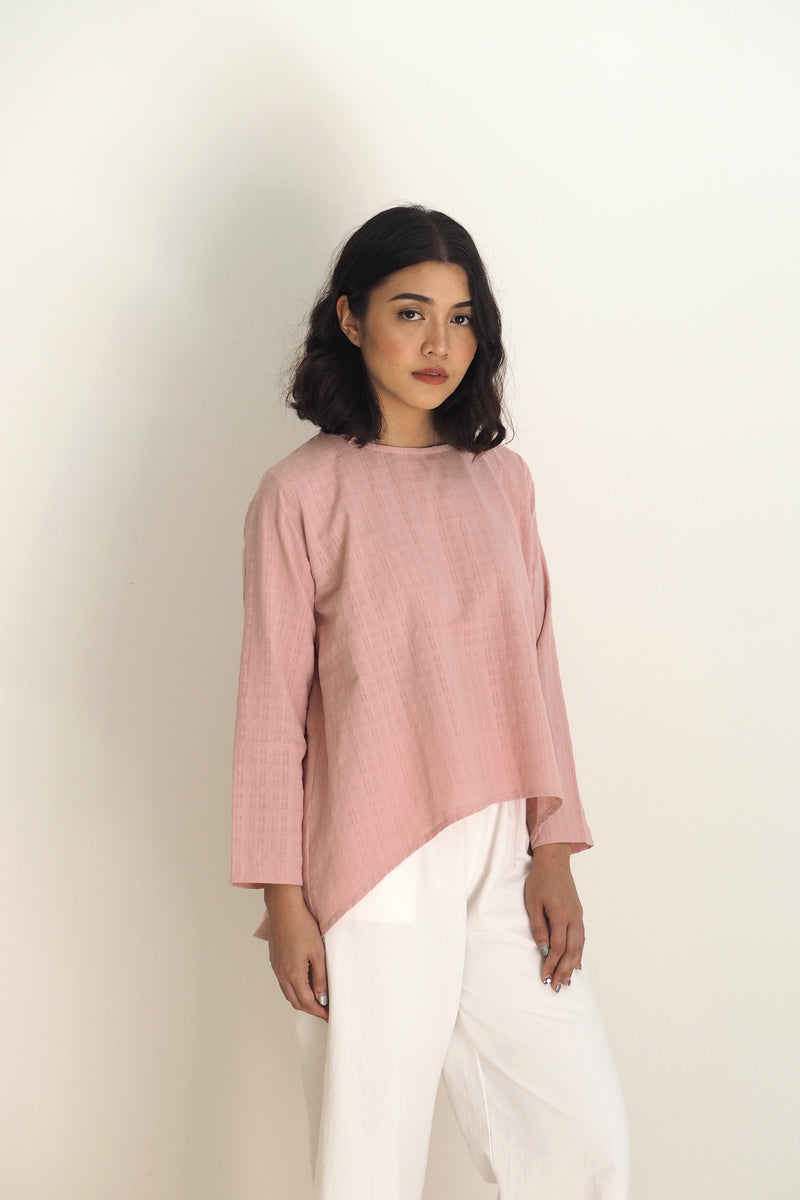 Lily Fishtail Top Pink