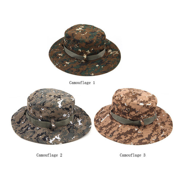 Military Camouflage Wide Round Brim Hat