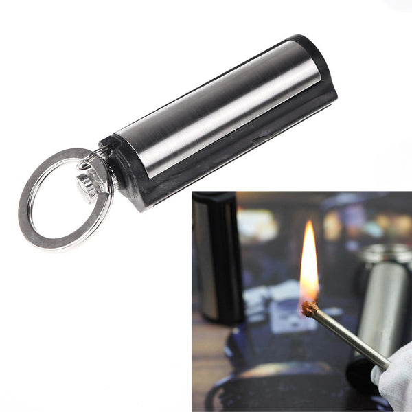 Metal Match Outdoor Lighter with Key Chain