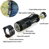 Super Powerful 3-mode Tactical Zoomable LED Mini Flashlight 2000 Lumen