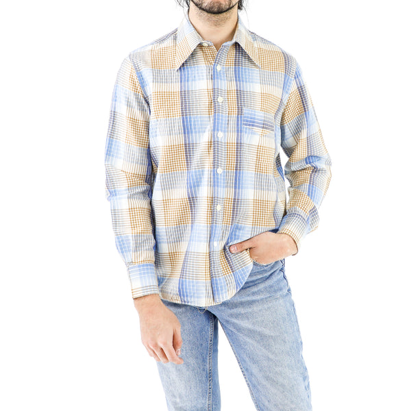 Cornflower Trombone Plaid Shirt