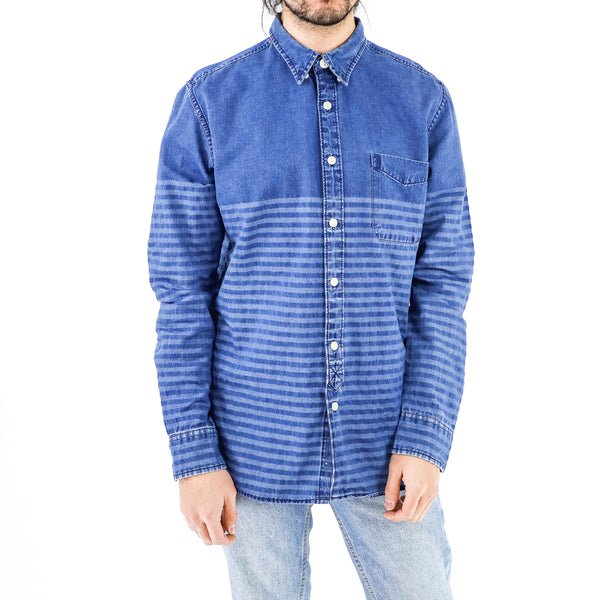 Breton Stripes Denim Shirt