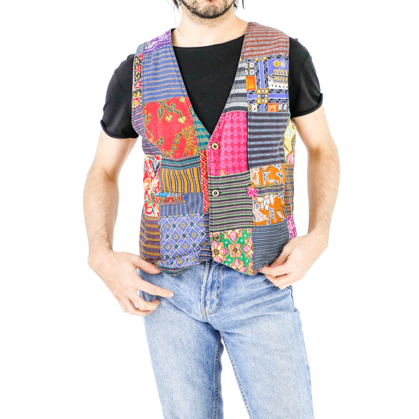 Patchwork Cotton Vest