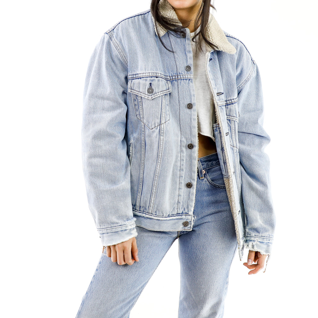 Baby Blue Vintage Denim Jacket