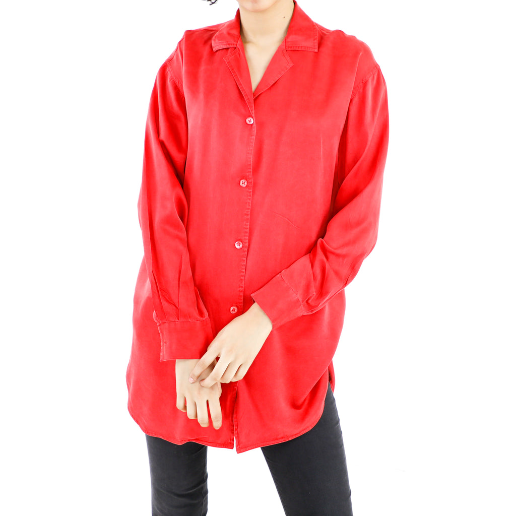 Imperial Red Silk Blouse