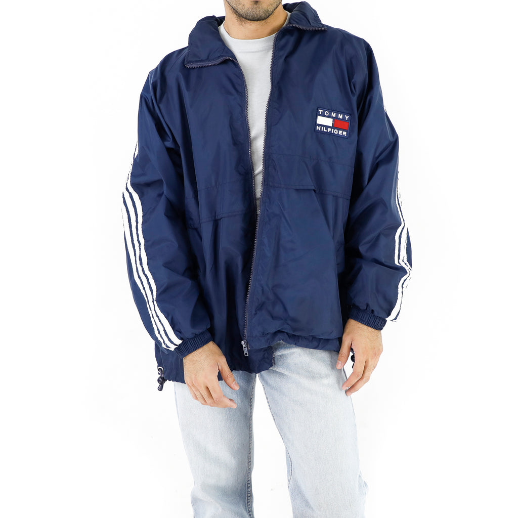 Tommy Hilfiger Navy Blue Vintage Windbreaker