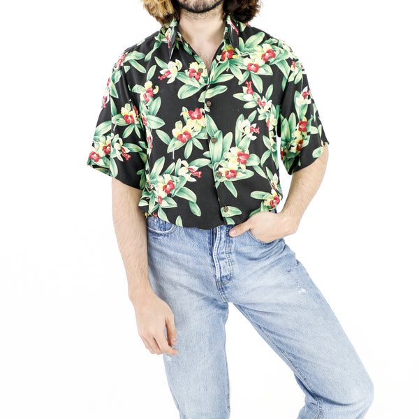 Black Hawaiian Flora Shirt