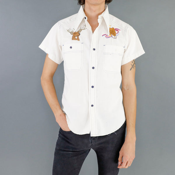 Deer & Eagle Embroidered Shirt
