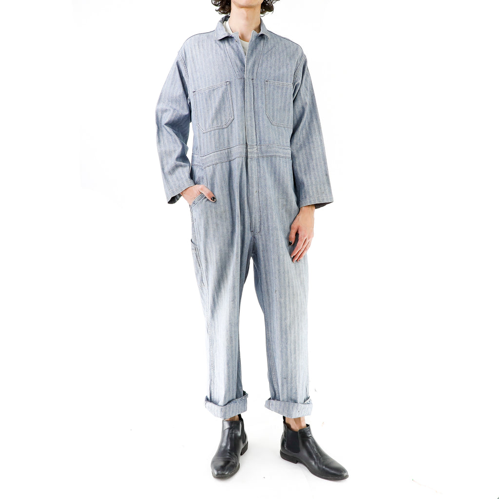 Gray Cotton 80's Overall