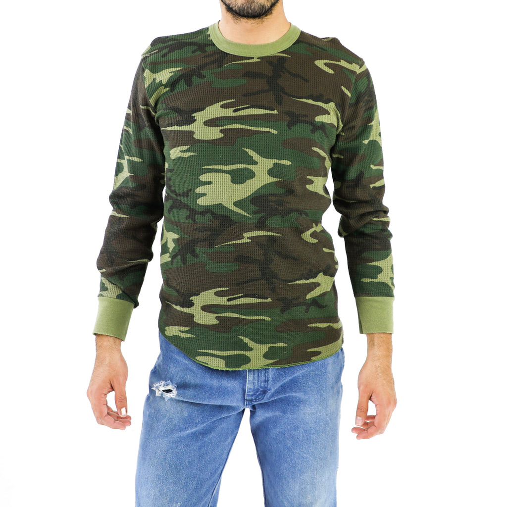 Vintage Camo Cotton Sweatshirt