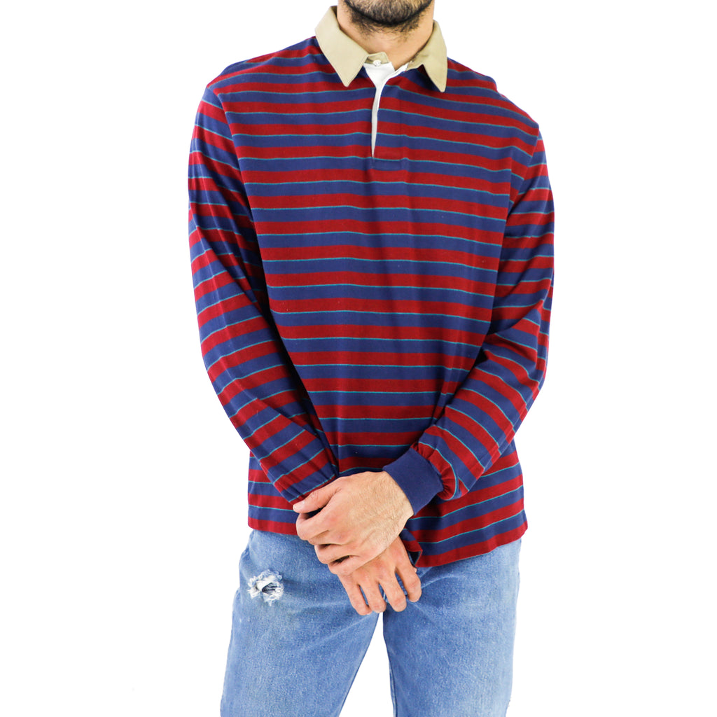 Space Blue & Carmine Striped Shirt