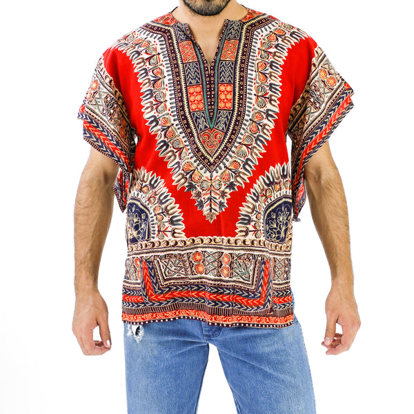 Colorful Tridents African Pattern Shirt