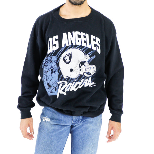 L.A. Raiders Black Crewneck Sweatshirt