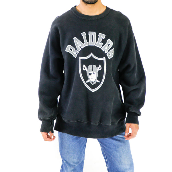 Raiders Black Oversized Sweatshirt