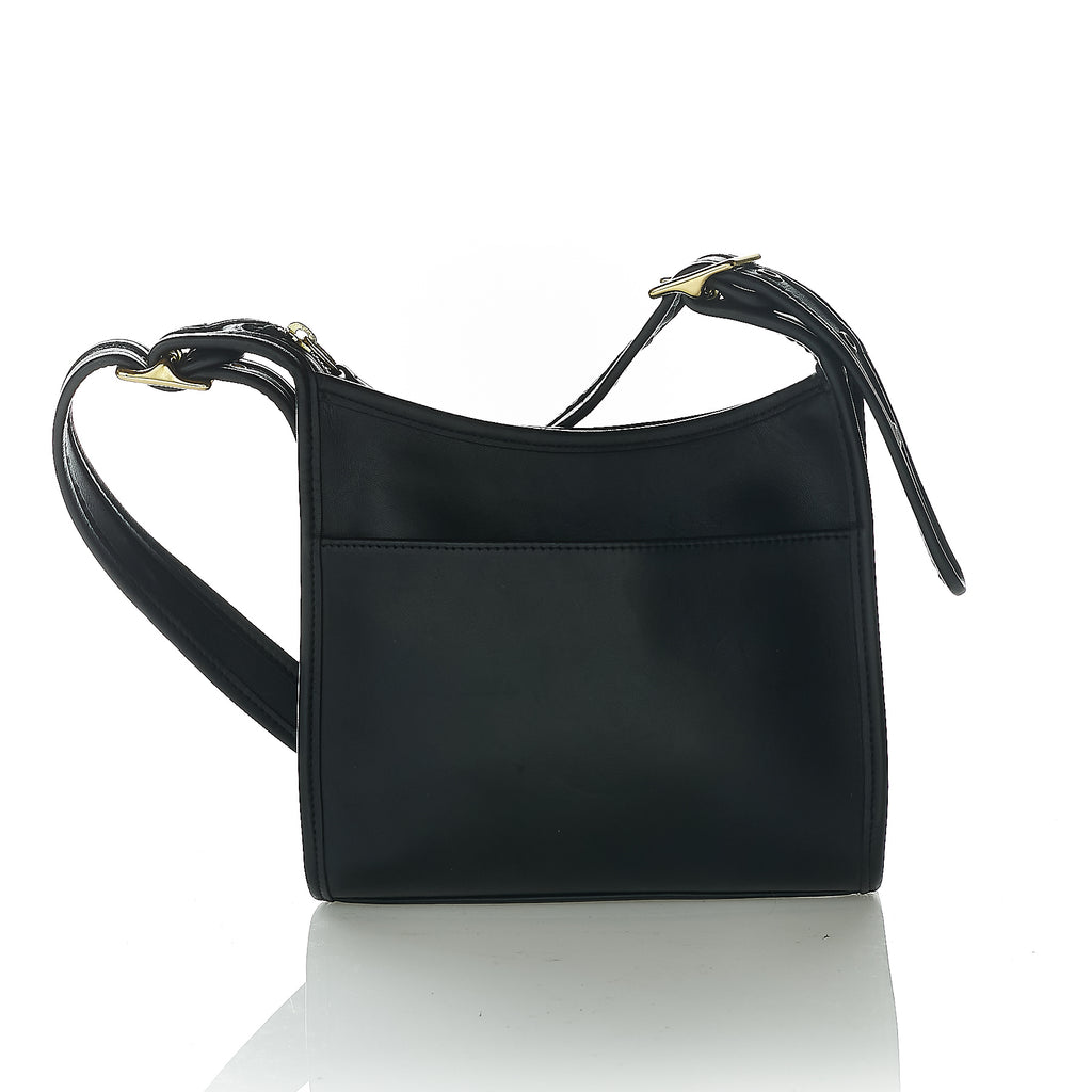 Black leather hobo vintage Coach shoulder bag