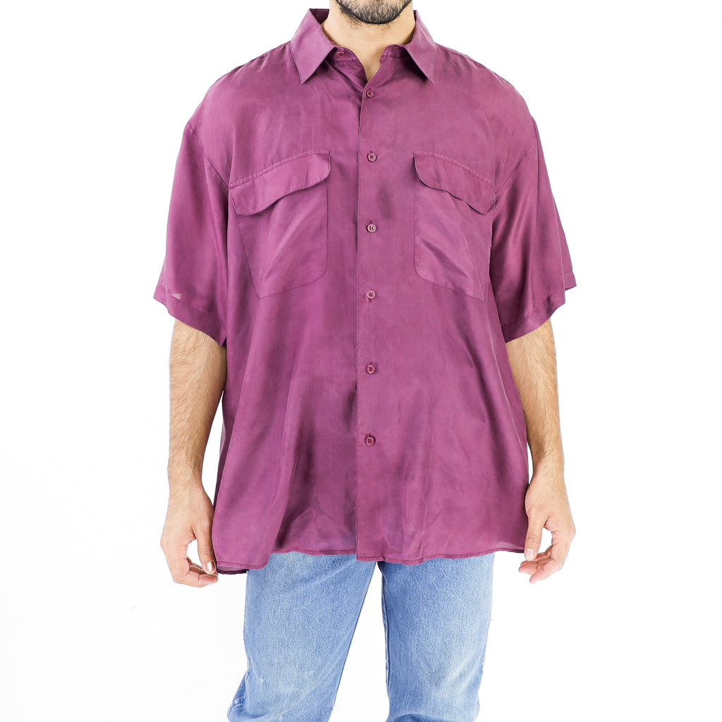 Plum Violet Silk Shirt