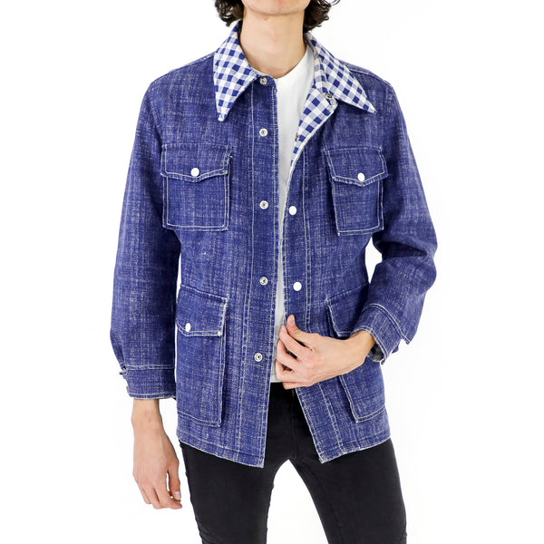 Plaid & Denim Jacket