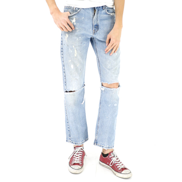 Distressed & Stained Levi's Jeans