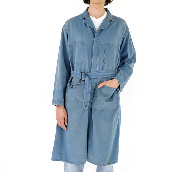 Washed Out Denim Trenchcoat